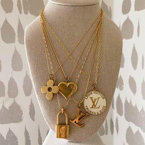 Louis Vuitton repurposed vintage necklaces